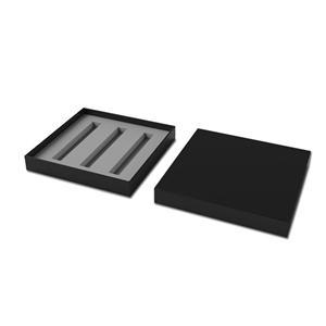 Embalaje de caja de papel negro de lujo personalizado de fábrica