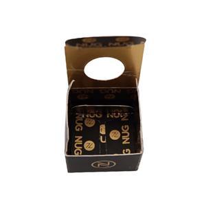 China factory custom black coated paper box