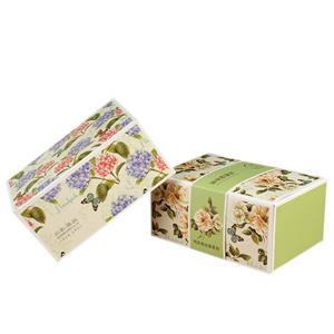 Boîte à thé cadeau en papier enduit imprimé CMJN personnalisé