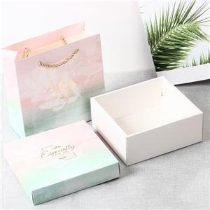 Caja de regalo de papel revestido impreso de logotipo personalizado