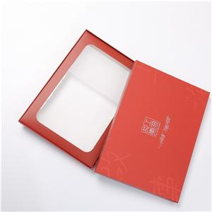 Factory Custom CMYK red printing coated paper box