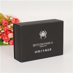 Boîte de papier couché d'impression noire personnalisée CMJN en usine