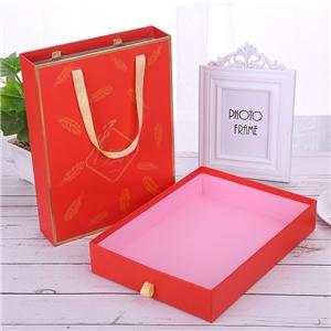 Factory Custom red printing coated paper box