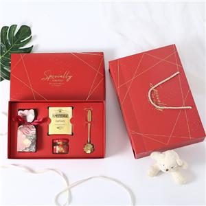 Factory Custom red printing coated paper gift box