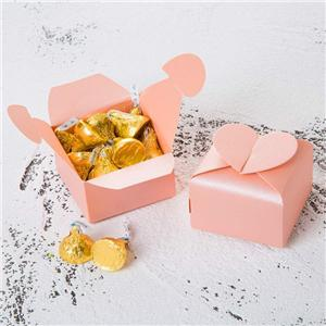 Factory Custom Heart-shaped coated paper packaging box
