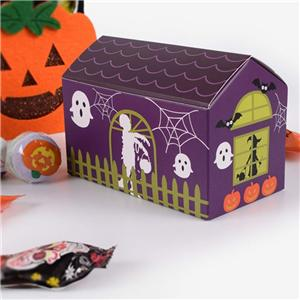 Factory Custom Halloween coated paper packaging box