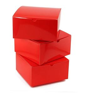 Factory Custom red coated paper packaging gift box
