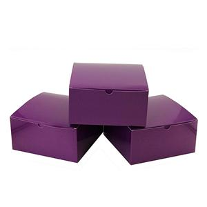 Factory Custom purple coated paper packaging gift box