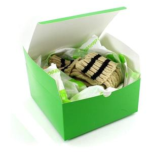 Factory Custom green coated paper packaging gift box
