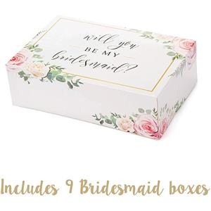 Factory Custom flower coated paper box clothing