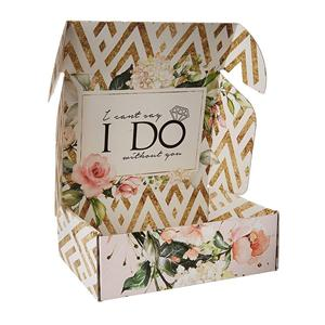Fábrica personalizada impresión de flores caja de papel recubierto boda