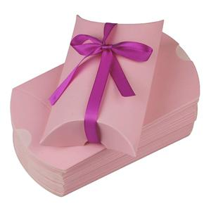 Factory Custom candy pink coated paper packaging gift box