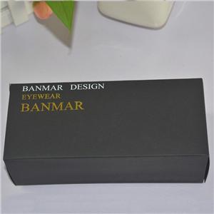 wholesale custom black color printing glasses packaging gift box