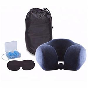 可折疊可愛的汽車頭枕U形旅行頸枕