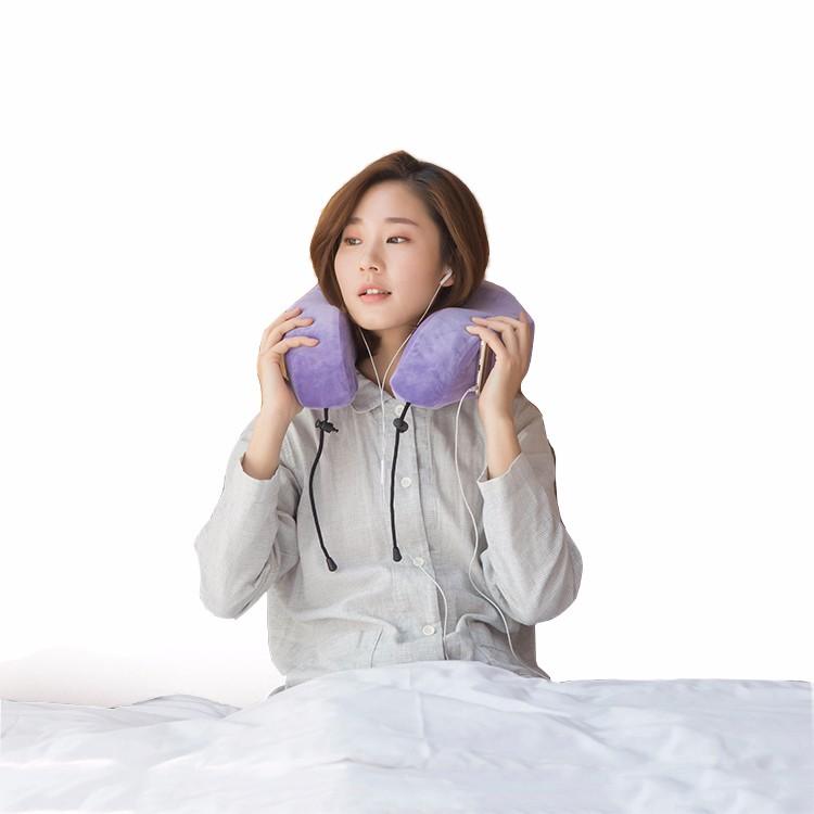 ロゴ付きの調整可能低反発ソフトネック枕