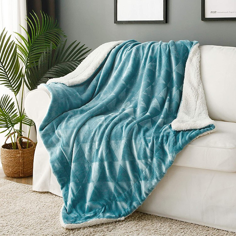 Super Soft Extra Cozy Warm Double Wool Blanket Bed Sofa Winter Thick Lamb Velvet Bedspreads Solid Sherpa Throw Blanket