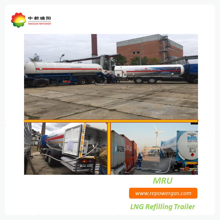 Cryogenic LNG refilling trailer
