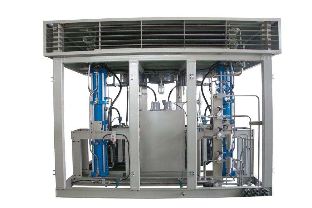 hydraulic gas compressor
