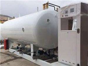 Integrated LNG Refilling Skid With Tank And Dispenser
