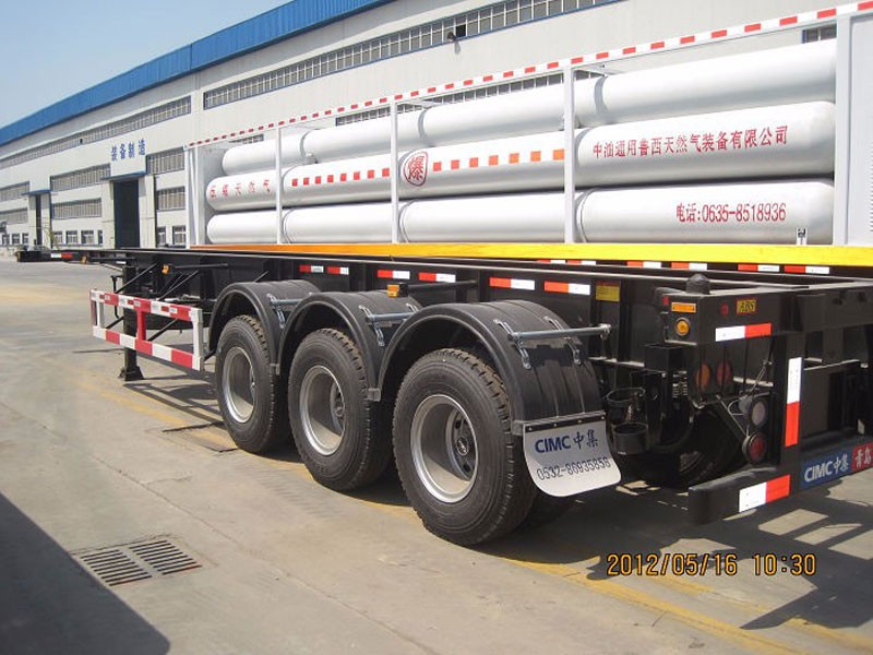 DOT estándar 40ft CNG Skid Container