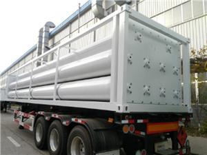 Трактор за газови тръби със сгъстен хелий