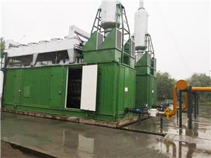 Landfill biogas power plant with jichai gas genset