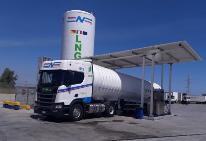 First liquefied natural gas filling station opens in southern Italy