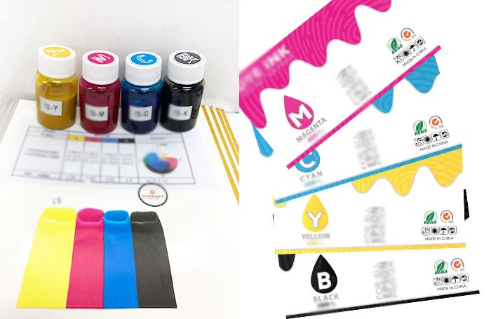 Show our inks before customer