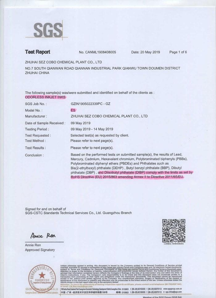 COBO SGS TEST REPORT-ES