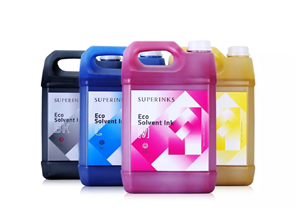 SUPERINKS brand Eco solvent ink-HT works on Allwin C8 plus Konica 1024i 30PL