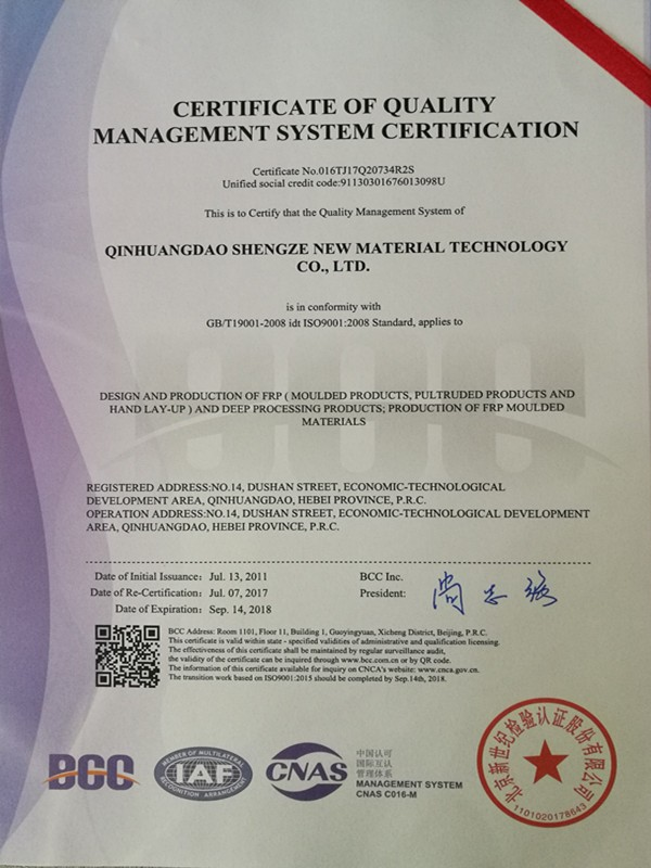 ISO 9001 — Certificate