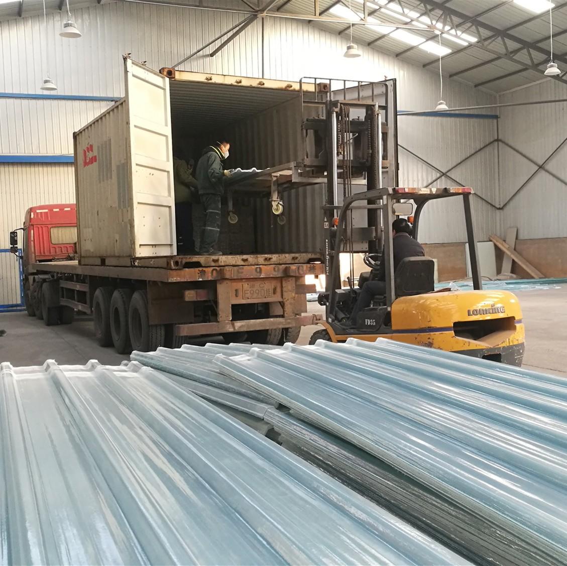 グラスファイバー屋根シートの輸出 - バングラデシュ