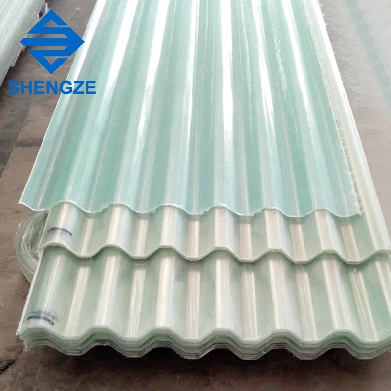 Frp fiber glass corrugated roofing sheet