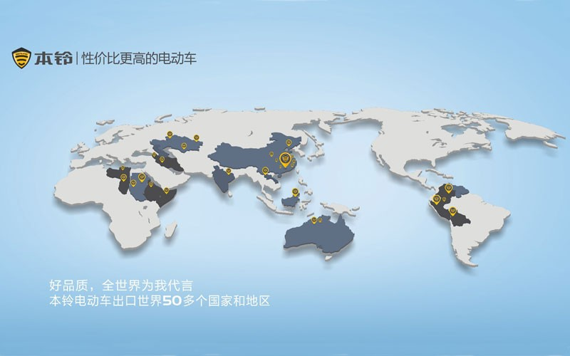 BENLG Exports to 50 Countries