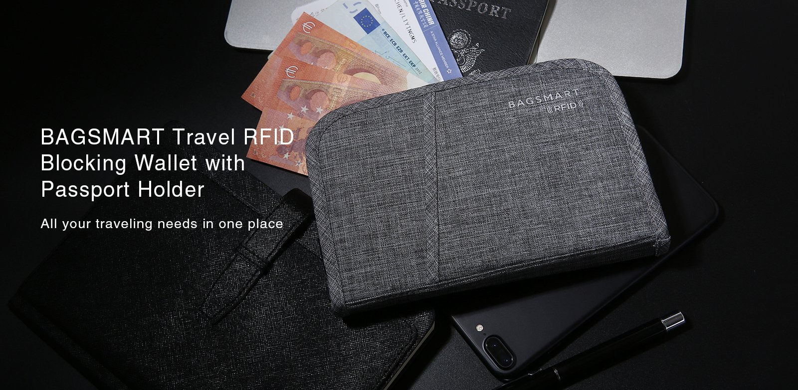 Travel Waist Wallet Rfid Money Belt