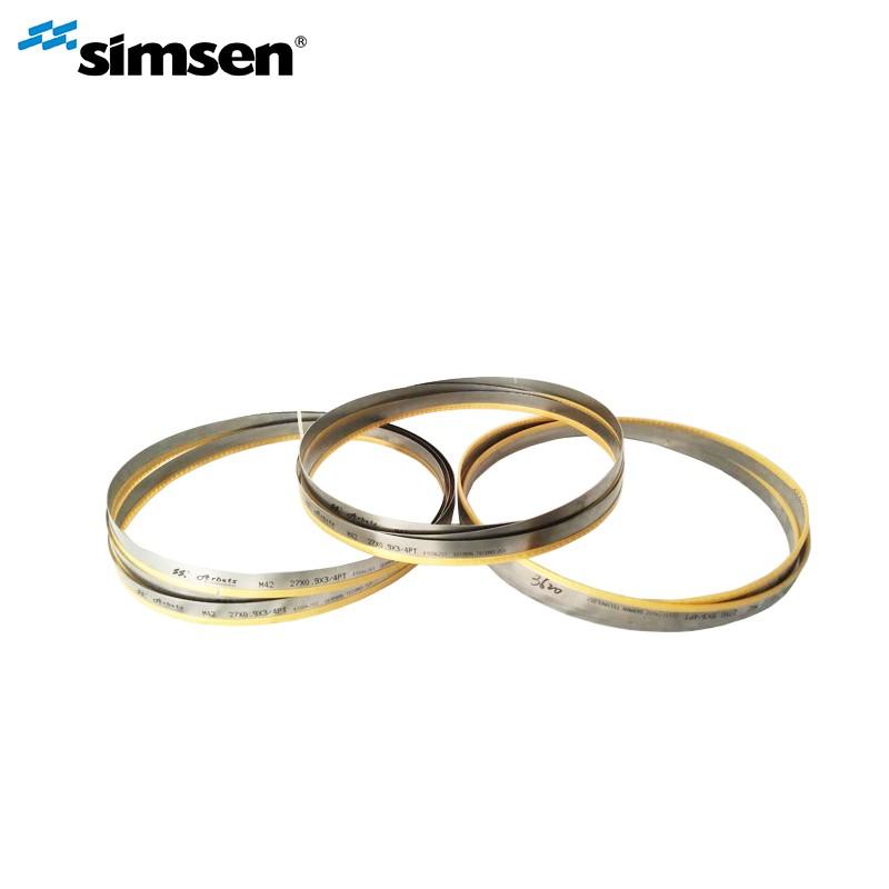 Hoja de sierra de cinta bimetálica M42 / M51 para corte de metales