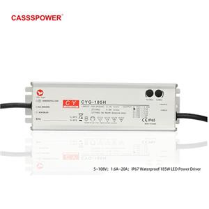 HLG185H 48V3.9A LED Waterproof tunnel lamp drive power supply Compliance to worldwide safety regulations for lighting