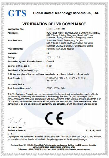 Homtecs H21 ชุดเราเตอร์ ได้รับการรับรอง CE