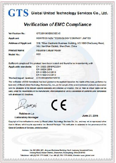 เราเตอร์ Homecom H22 ซีรีส์ได้รับการรับรอง CE