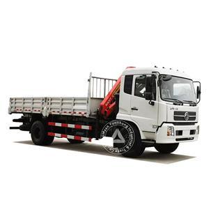 डोंगफेंग केआर 4x2 180hp GVW 13.5 टन ट्रक 5-8 टन क्रेन पर चढ़ा