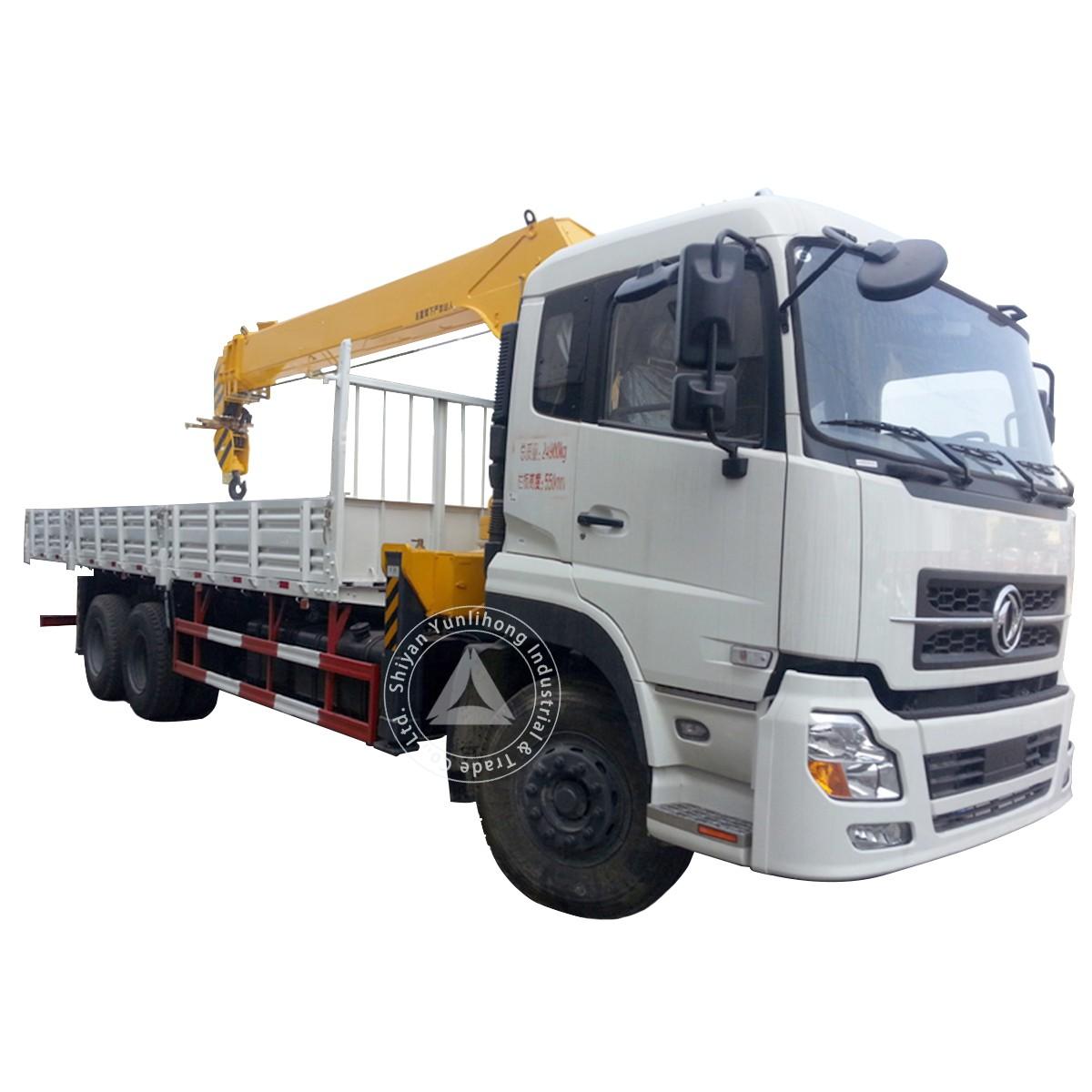 Dongfeng KC 6x4 GVW Camión de 27 toneladas con grúa de 9 a 12 toneladas
