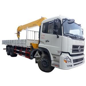 डोंगफेंग केसी 6x4 जीवीडब्ल्यू 27 टन ट्रक 9-12 टन क्रेन घुड़सवार