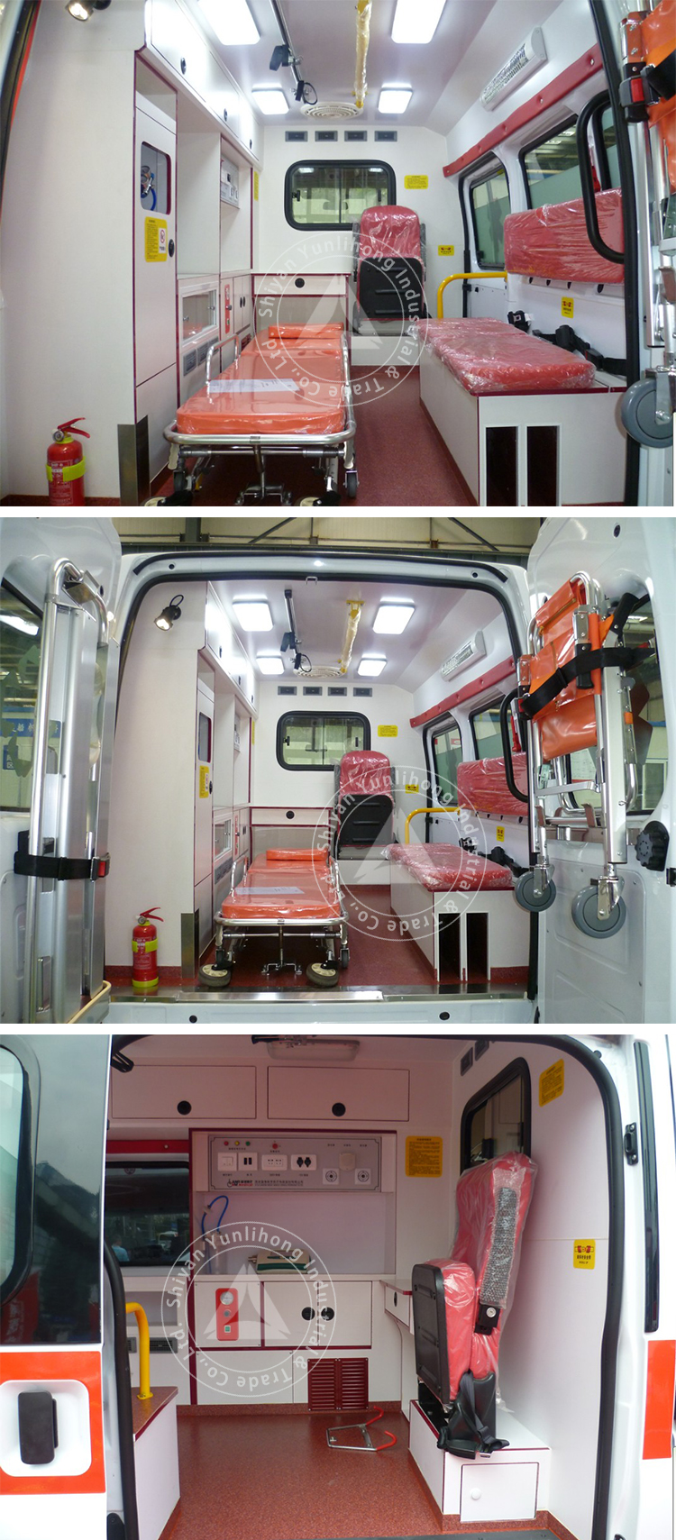 middle roof diesel ambulance
