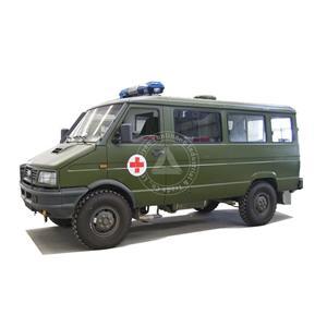 LHD डीजल लॉन्ग व्हीलबेस 4wd आईसीयू एम्बुलेंस वाहन
