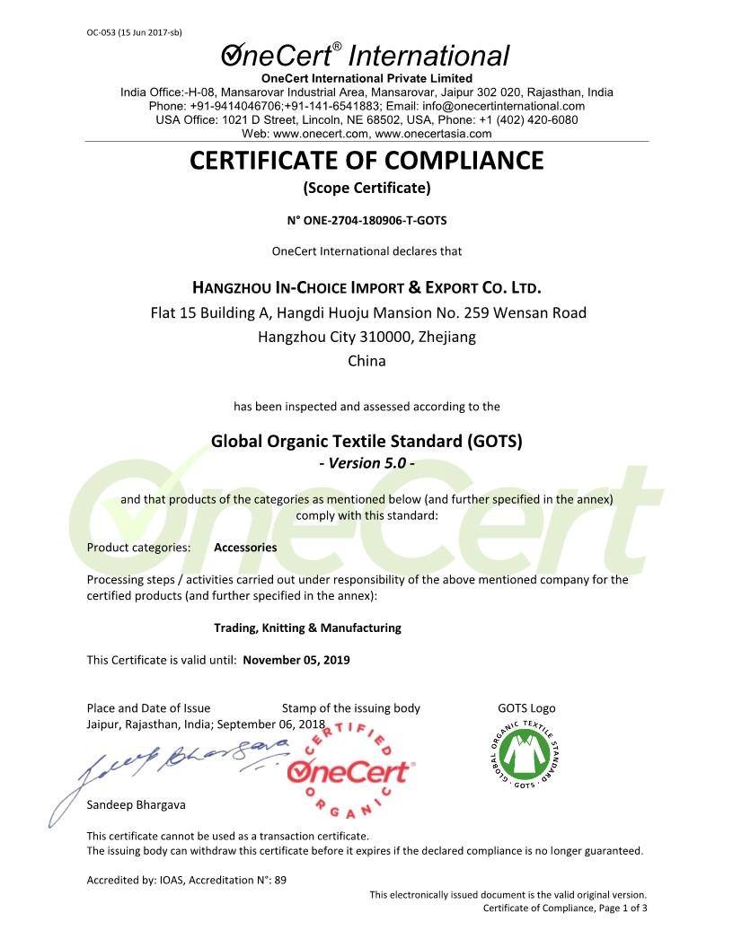 Global Organic Textile Standard 5.0
