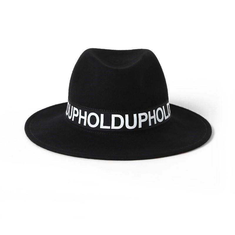 Siyah Yumuşak Yün Erkek Trilby Şapka