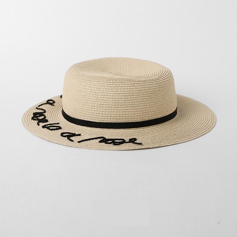 Özel Moda Kadın Hasır Şapka tasarlanan