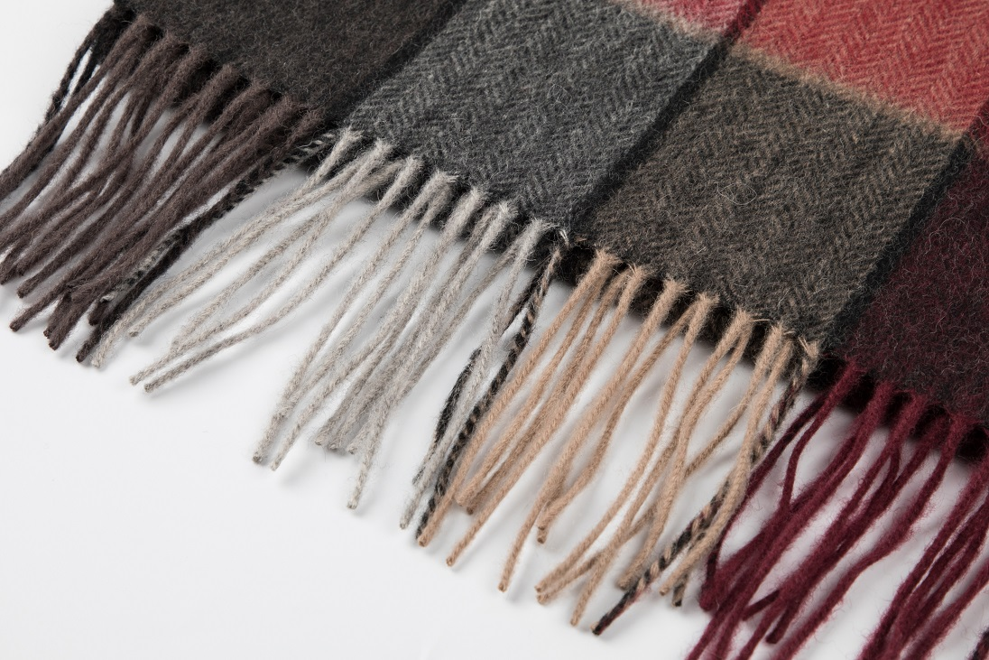 fringed women's woven scarf