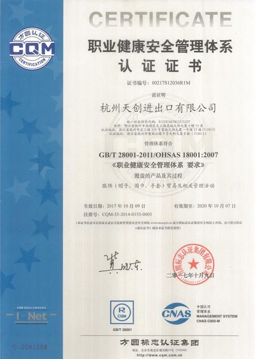 OHSAS18001: 2007 18001 İş Sağlığı ve Güvenliği Değerlendirme Serisi