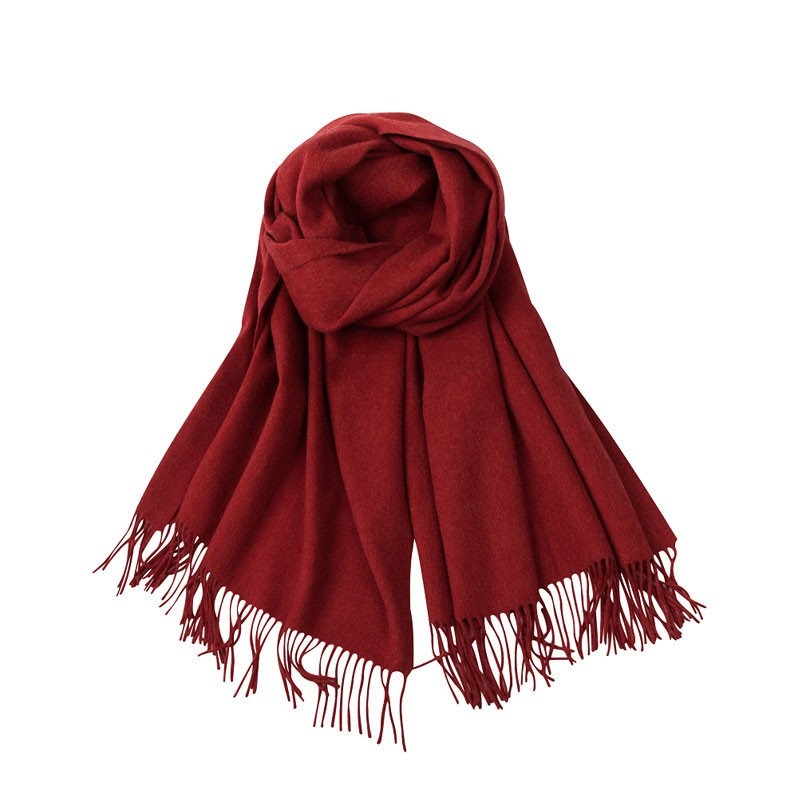 Pure Color Cashmere Women's Woven Scarf